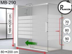 Paroi douche porte de douche 130 cm 130 x 180 130 x 185 130 x 190 130 x 195 130 x - Porte coulissante pour douche de 130 cm ...