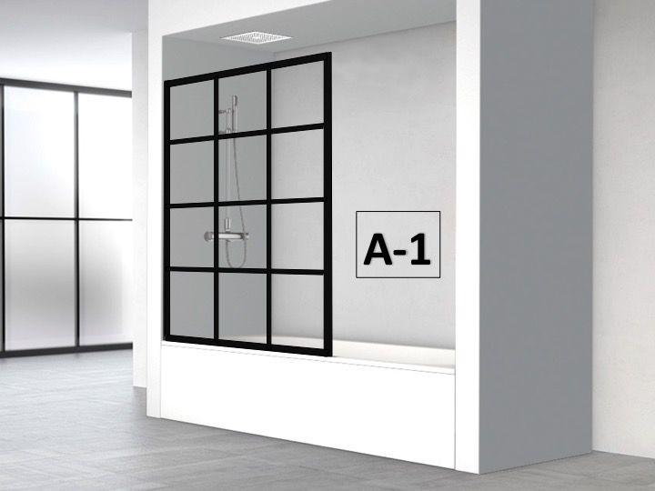 Paroi Baignoire Fixe 90 X 147 Au Style Industriel Art Deco Atelier