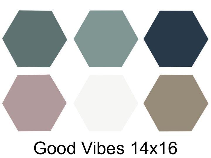 Carrelage Hexagonal Sol Et Mur De Petit Taille Serie Good Vibes 14 X 16 Cm Cevica