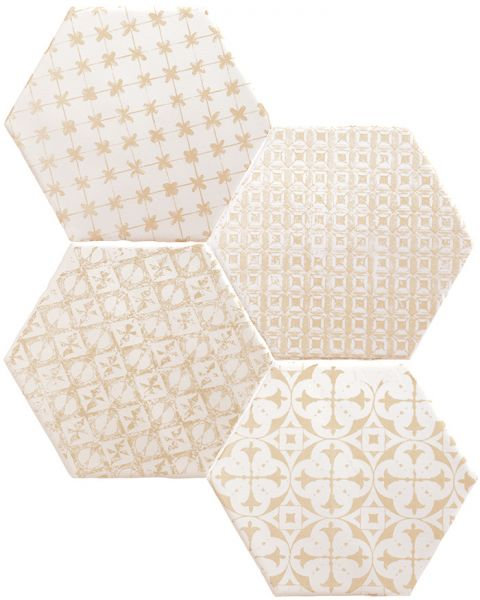 Carrelage hexagonal sol et mur, au style oriental, mauresque - Série MARRAKECH MOSAIC 15 x 15 cm