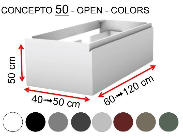 deux tiroirs hauteur 50 cm finition