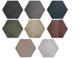 Heritage 17,5x20 cm - Carrelage sol, hexagonal, finition terre cuite, type Tomette