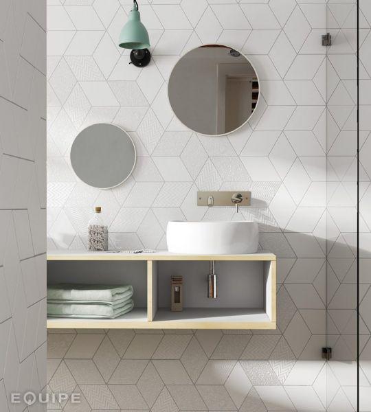 Carrelage Mural Et Sol Forme Geometrique De Losange Rhombus 15 X 26 14 X 24 Cm Equipe