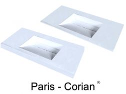 Plan vasque, 50 x 120 cm,  en DuPont Corian® - PARIS 45