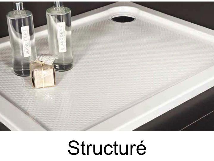 receveurs de douches acrylique 70 75 80 90 x 160 bac de douche acrylique structur extra. Black Bedroom Furniture Sets. Home Design Ideas
