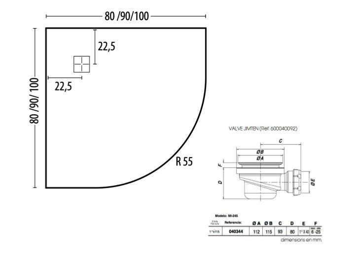 receveurs de douches longueur 100 receveur de douche 1 4. Black Bedroom Furniture Sets. Home Design Ideas