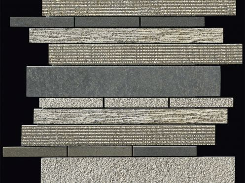 Carbon multieffect Strip plaque de mosaïque 30,5x30,5 cm, Boxer