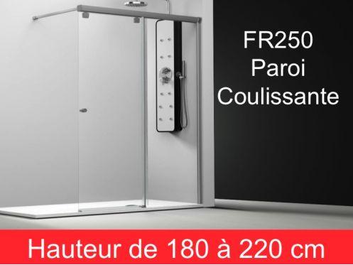 parois de douche largeur 100 paroi de douche coulissante 100 cm fixation droite hauteur de. Black Bedroom Furniture Sets. Home Design Ideas