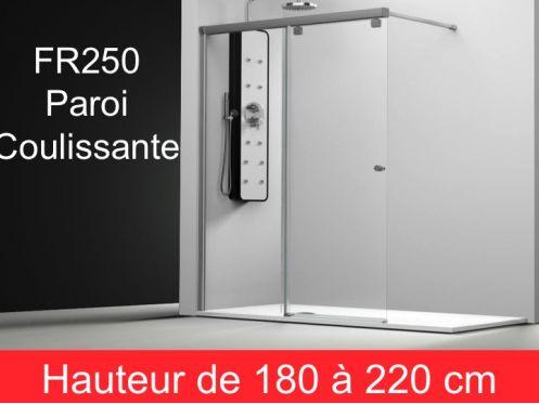 parois de douche largeur 100 paroi de douche coulissante 100 cm fixation gauche hauteur de. Black Bedroom Furniture Sets. Home Design Ideas