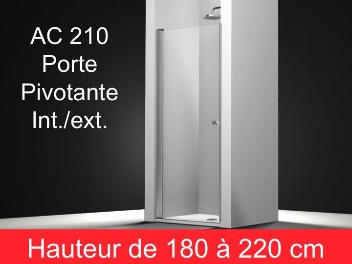Parois de douche largeur 55 porte de douche pivotante 55 cm fixation gau - Cabine de douche hauteur 180 cm ...
