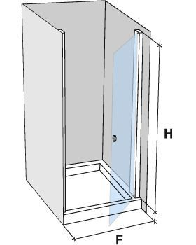 Parois de douche largeur 75 porte de douche pivotante 75 for Porte de douche hauteur 180