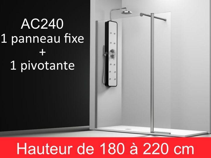 paroi de douche fixe 100 paroi fixe de 100 cm pour douche. Black Bedroom Furniture Sets. Home Design Ideas