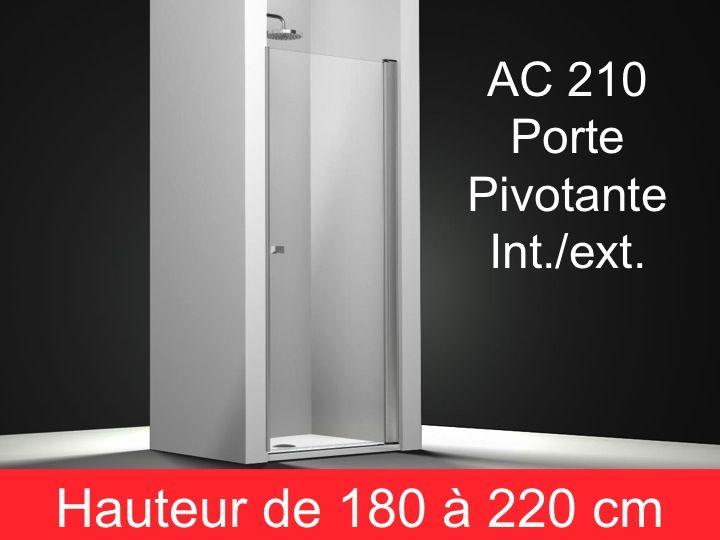 Parois de douche largeur 95 porte de douche pivotante 95 for Porte de douche hauteur 180
