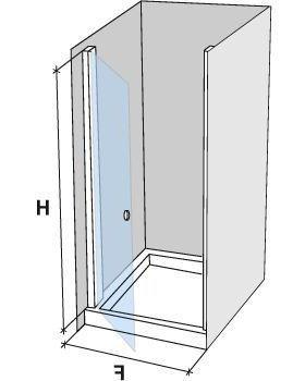 Parois de douche largeur 55 porte de douche pivotante 55 - Fixation porte de douche ...