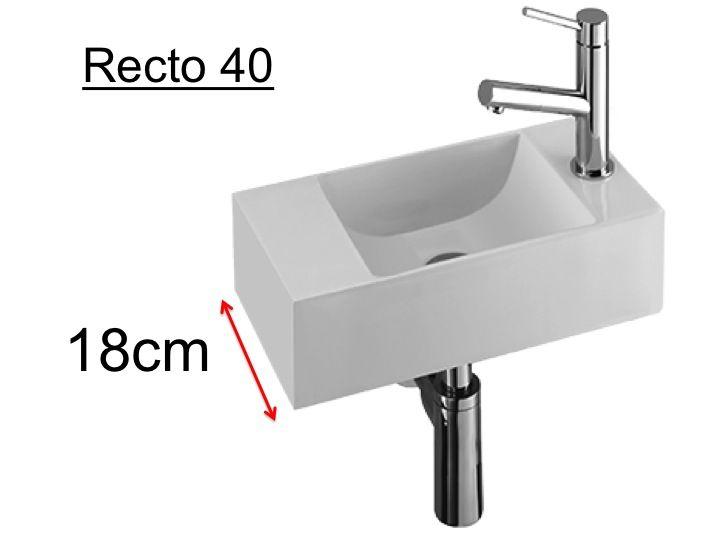 meubles lave mains robinetteries lave mains lave mains c ramique profondeur 18 cm. Black Bedroom Furniture Sets. Home Design Ideas