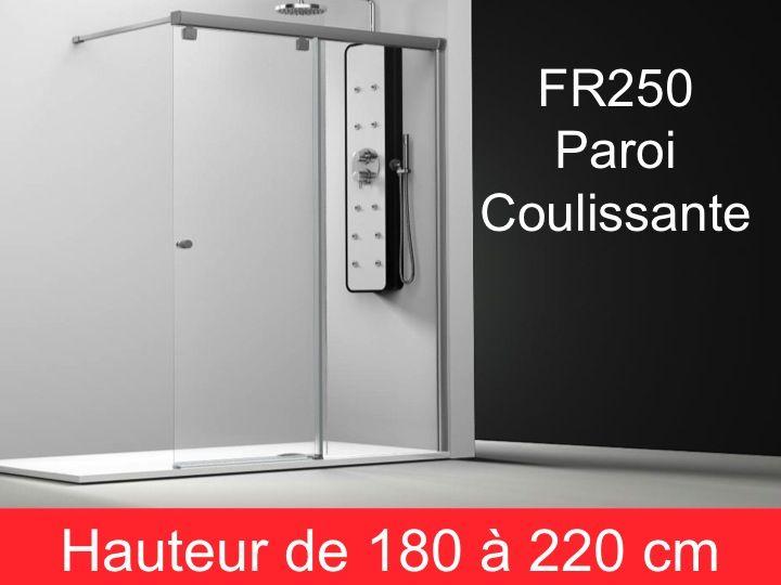 parois de douche largeur 145 paroi de douche coulissante 145 cm fixation droite hauteur de. Black Bedroom Furniture Sets. Home Design Ideas