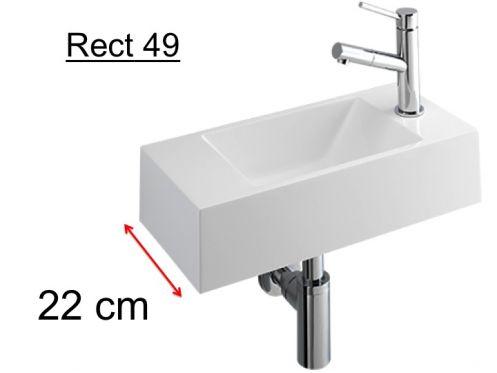 meubles lave mains robinetteries lave mains lave mains design en r sine min rale blanche. Black Bedroom Furniture Sets. Home Design Ideas