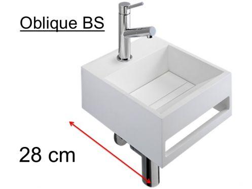 meubles lave mains robinetteries lave mains lave mains 28 cm en solid surface blanc mat. Black Bedroom Furniture Sets. Home Design Ideas