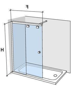 parois de douche largeur 150 paroi de douche coulissante 150 cm fixation gauche hauteur de. Black Bedroom Furniture Sets. Home Design Ideas