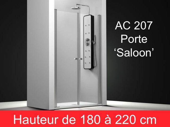 parois de douche largeur 60 porte de douche pivotante type saloon 60 cm hauteur de 180 220. Black Bedroom Furniture Sets. Home Design Ideas