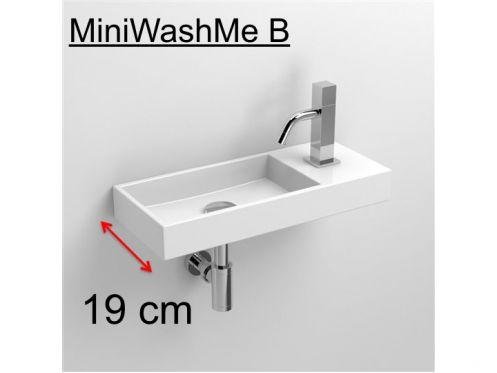 meubles lave mains robinetteries lave mains lave mains en c ramique blanc 19 cm. Black Bedroom Furniture Sets. Home Design Ideas