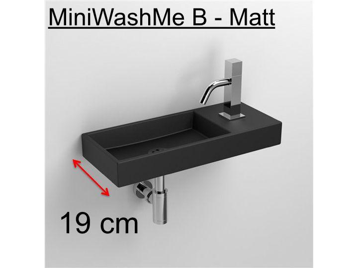 meubles lave mains robinetteries lave mains lave mains en c ramique noir mat 19 cm. Black Bedroom Furniture Sets. Home Design Ideas