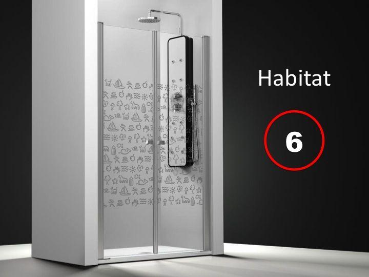 Parois de douche largeur 90 porte de douche pivotante for Porte 90x215