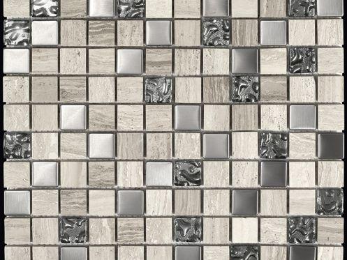 Paves briques de verres mosa ques et galets wood stone for Carrelage style marbre