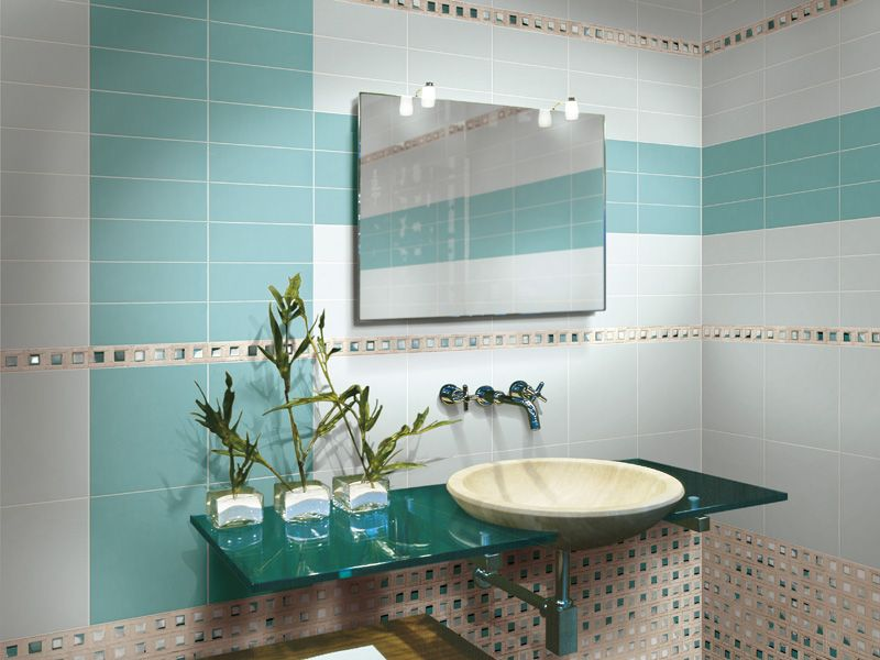 Salle de bain mosaique verte vert carrelage salle de - Salle de bain verte ...