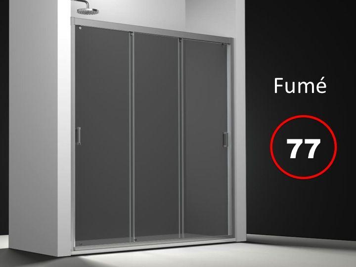 Parois de douche largeur 140 porte de douche 3 panneaux for Porte 3 panneaux