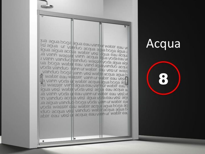 Parois de douche largeur 140 porte de douche 3 panneaux coulissants en fa a - Porte de douche 140 cm ...
