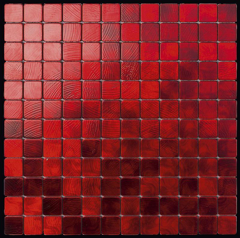 Mosa ques marbre galets et frises mosa ques alubond 25 for Mosaique rouge salle de bain
