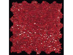 Mini Glass Rosso, Mosaique de verre, carrelage de 30x30 cm. Boxer
