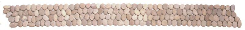 mosa ques frises et galets pour salle de bain galets gabe02 frise galet beige mat. Black Bedroom Furniture Sets. Home Design Ideas