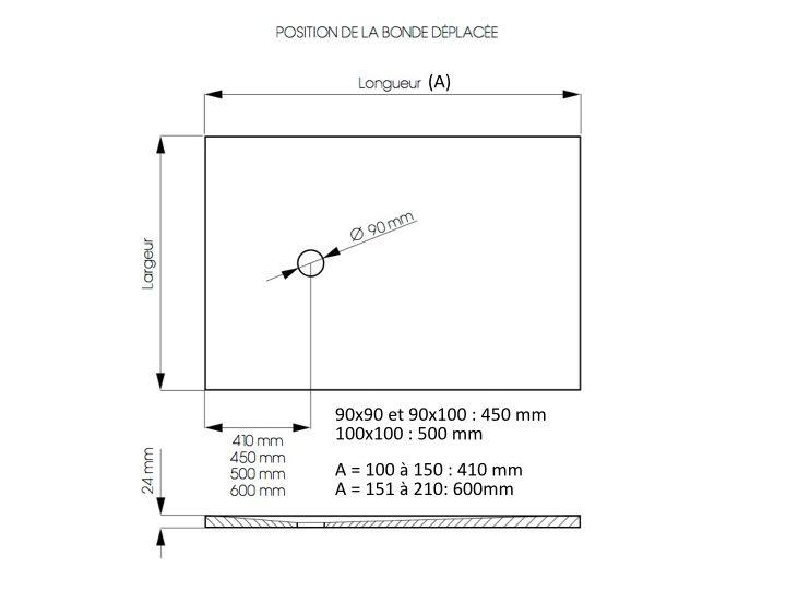 receveurs de douches longueur 125 receveur de douche 125 cm en r sine petite taille ou grande. Black Bedroom Furniture Sets. Home Design Ideas