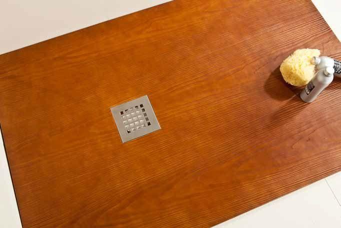 Receveur de douche 155 cm en r sine petite taille ou grande dimension extra plat effet bois teck - Cabine de douche petite taille ...