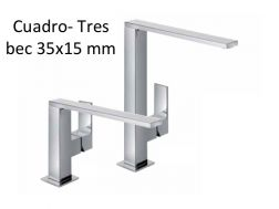 Robinet Mitigeur lavabo bec 34x10 mm., cuadro-tres 140-285 mm, finition chrome